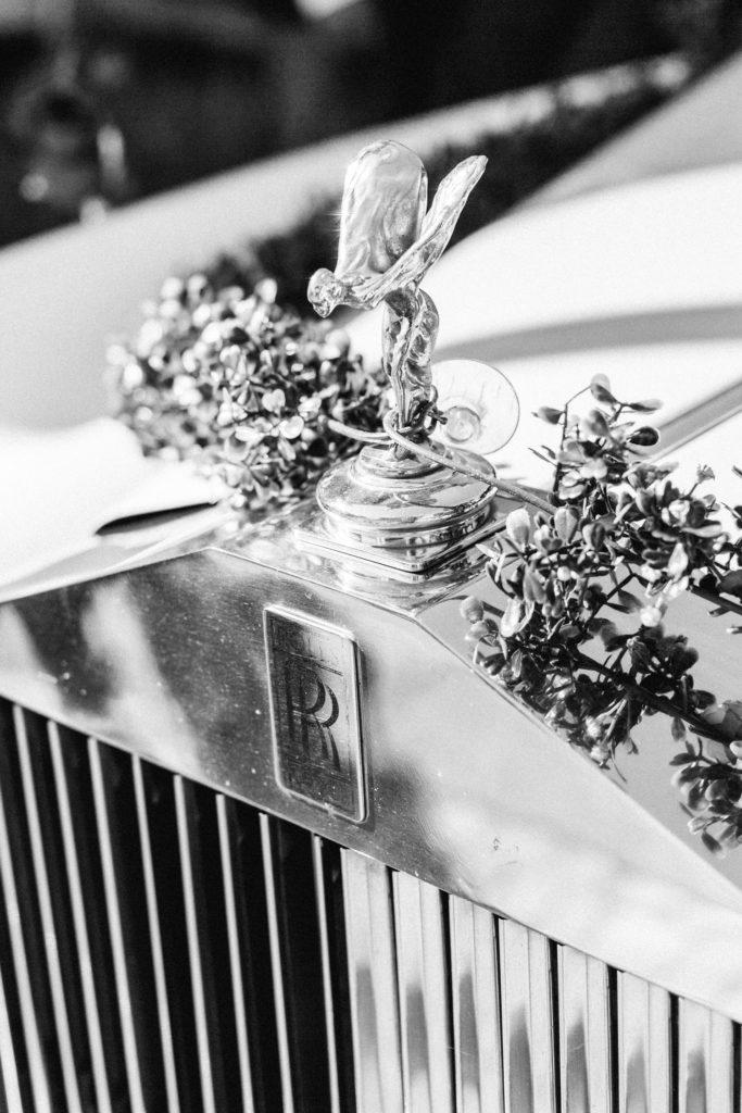 Hochzeitsreportage Gasthaus Alte Holzmühle Hochzeitsauto rolls royce