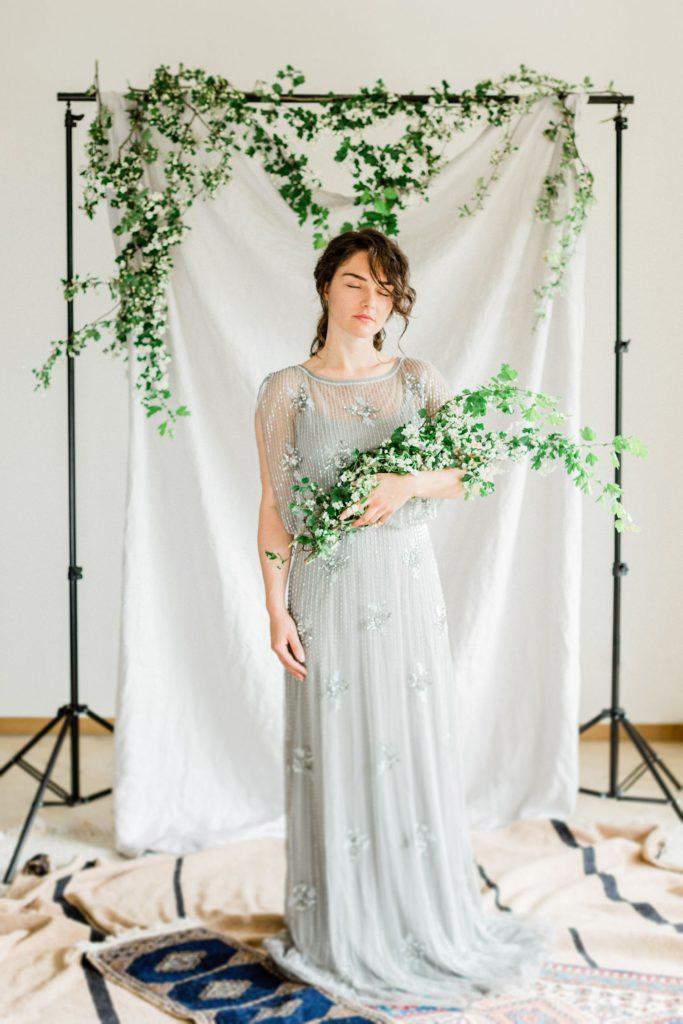 romantische Portrait inspiration Frau im Abendkleid