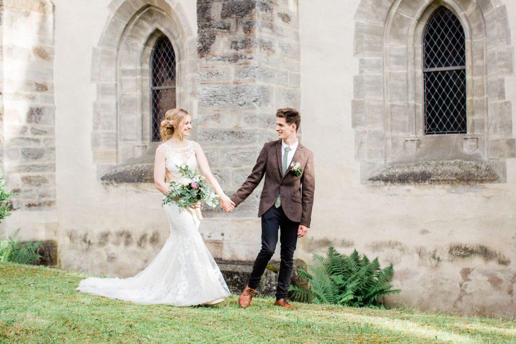 Hochzeitsreportage Kloster Altenberg Braut und Bräutigam portrait Foto