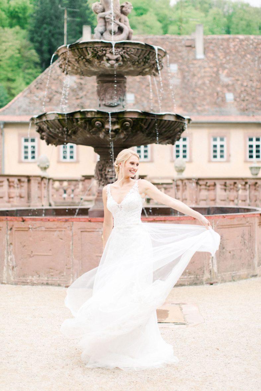 Fine Art Hochzeitsfotografie Fine Art Wedding photography Braut portrait Brautpaar shooting kloster bronnbach