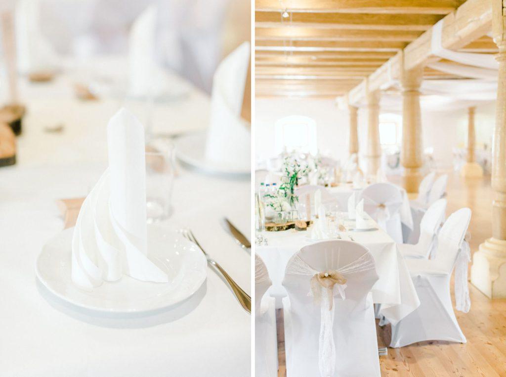Fine Art Hochzeitsfotografie Hochzeit Schloss Craheim Amtskellerei Stadtlauringen Hochzeitsfotograf Bodensee Frankfurt Würzburg Tischdekoration