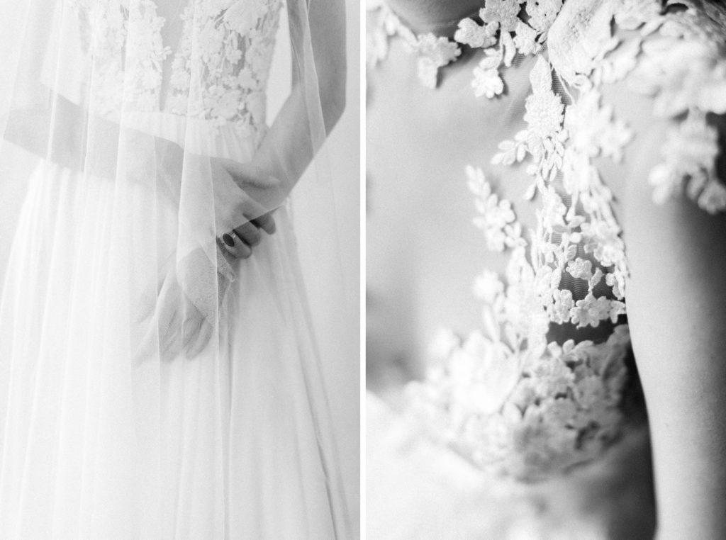 Daalarna Couture Ewigmein Fine Art Hochzeitsfotografie Brautschleier Brautkleid mit 3d Blütenaplikation spitze